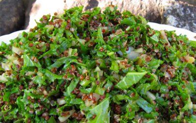 Totally addictive kale salad