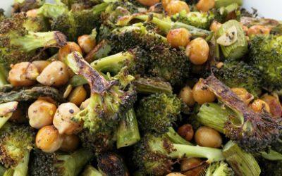 Roasted black pepper broccoli